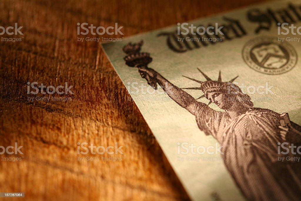 Tax Refund Check royalty-free stock photo