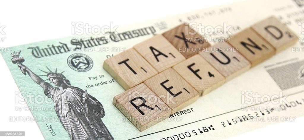 IRS tax refund check stock photo