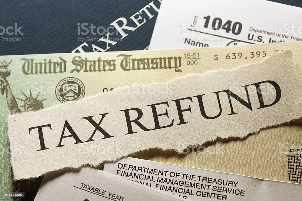 Tax Refund royalty-free stock photo