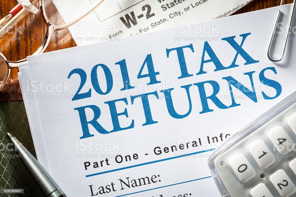 Tax Return 2014 stock photo