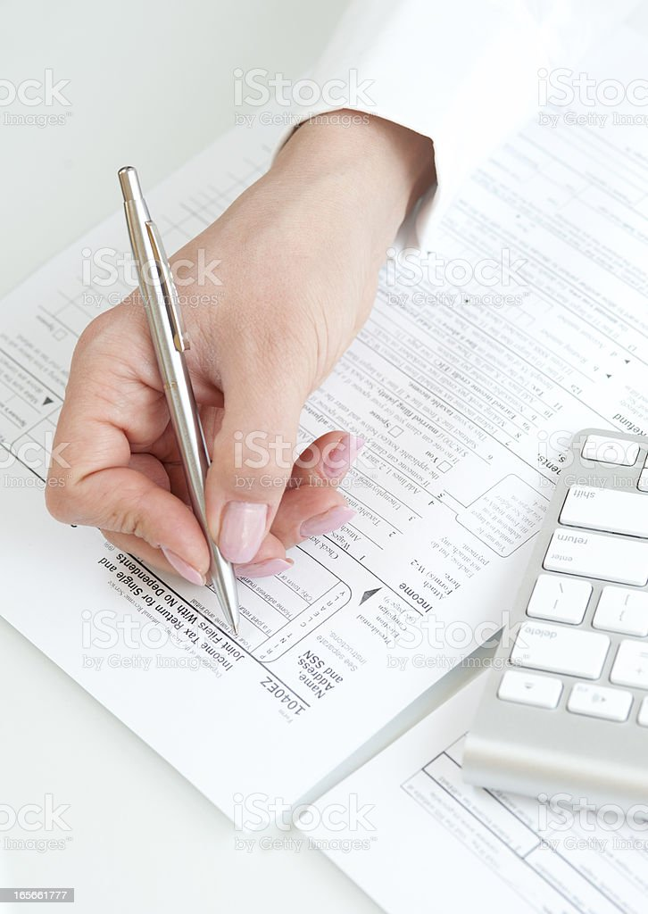 US tax return form royalty-free stock photo