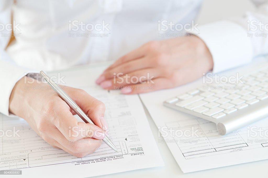 US tax return form stock photo
