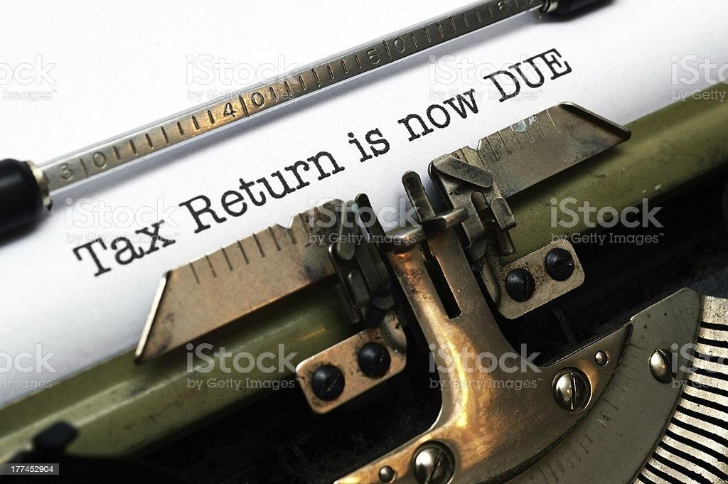 Tax return is now due stock photo