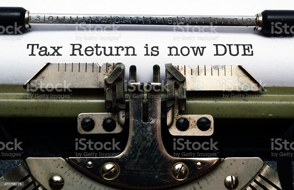 Tax return is now due royalty-free stock photo