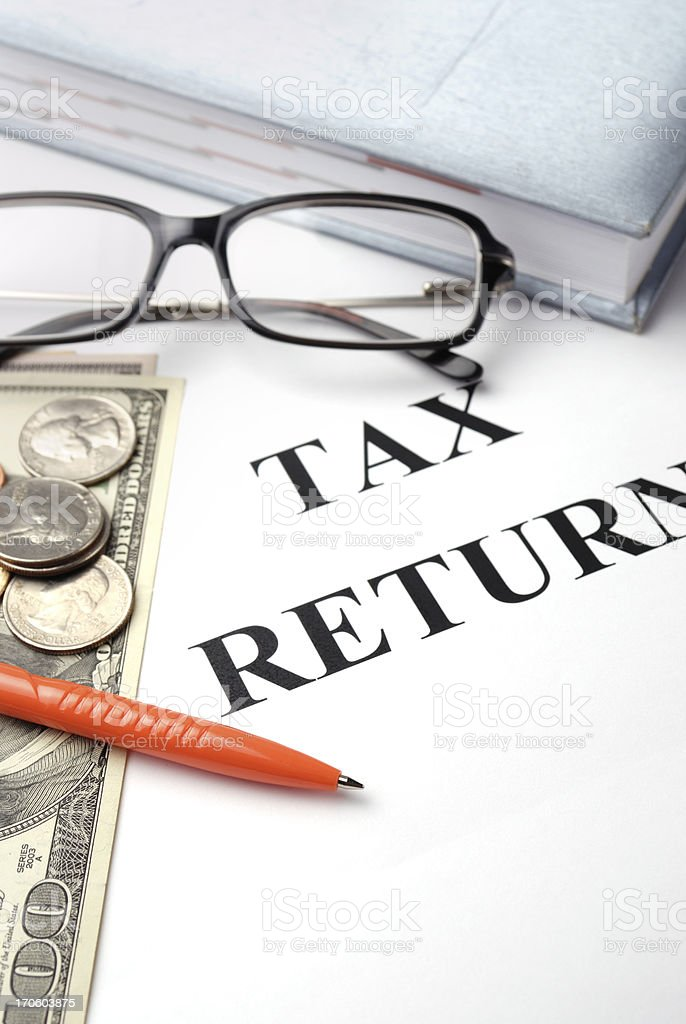 Tax return papers royalty-free stock photo