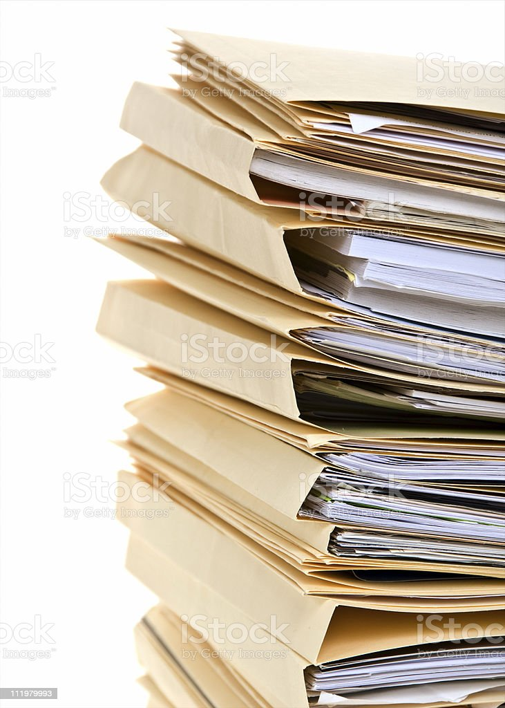 Tax Season, Stack of File Folders royalty-free stock photo