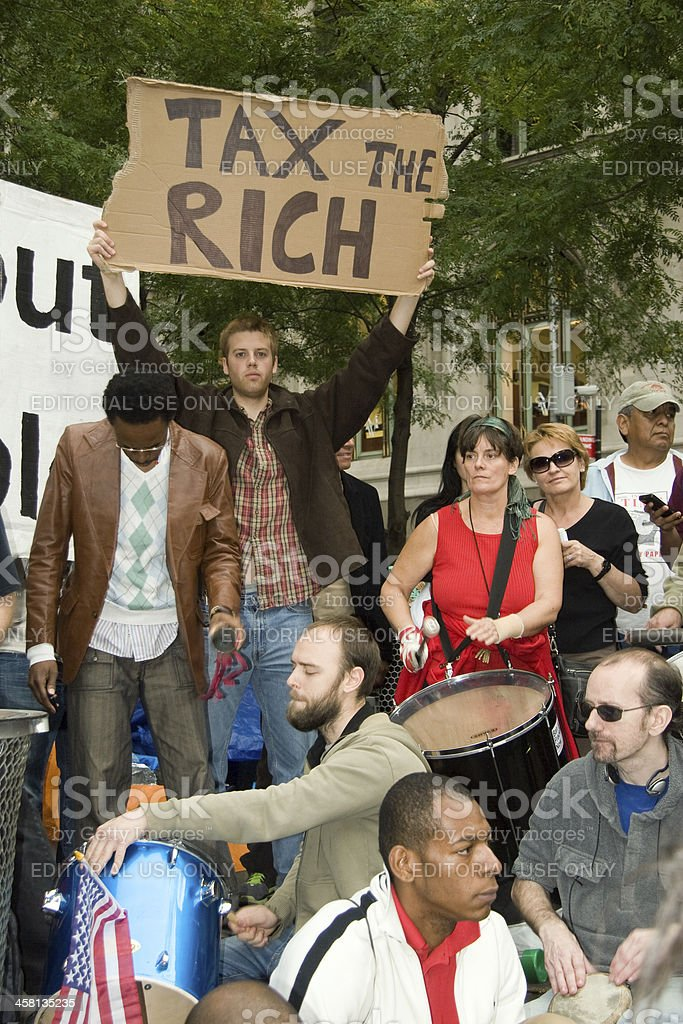 Tax the Rich stock photo