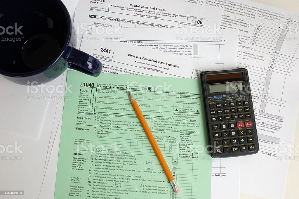Tax Time Again royalty-free stock photo