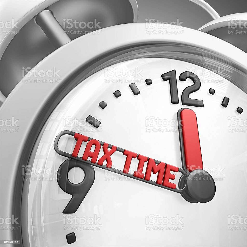 tax time alarm clock royalty-free stock photo