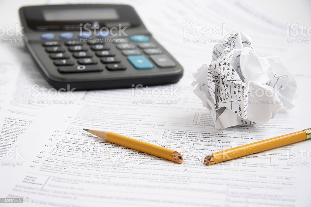 Tax time frustration royalty-free stock photo