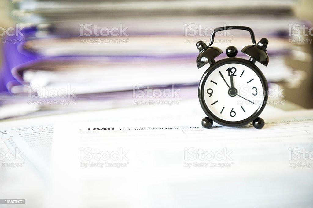 Tax time! stock photo