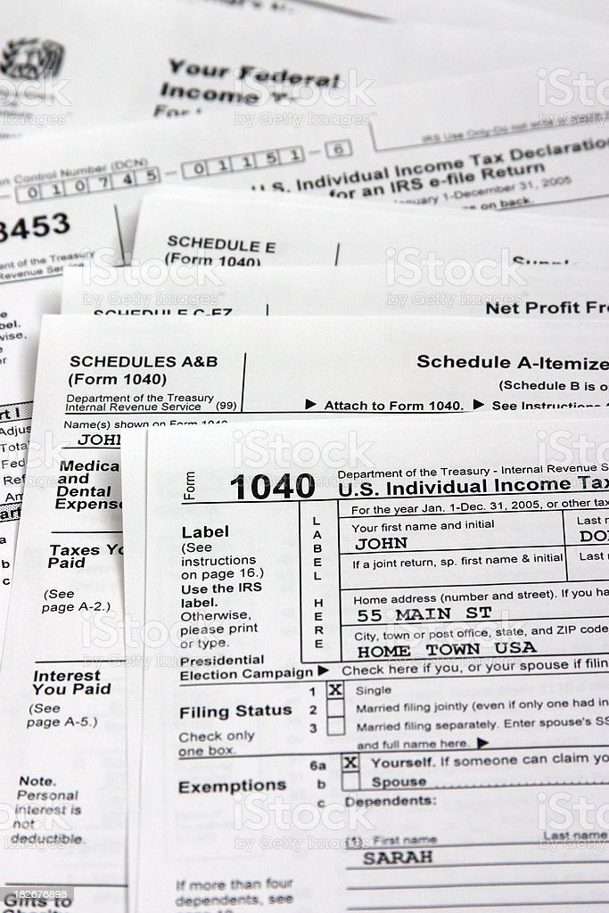 tax time stock photo