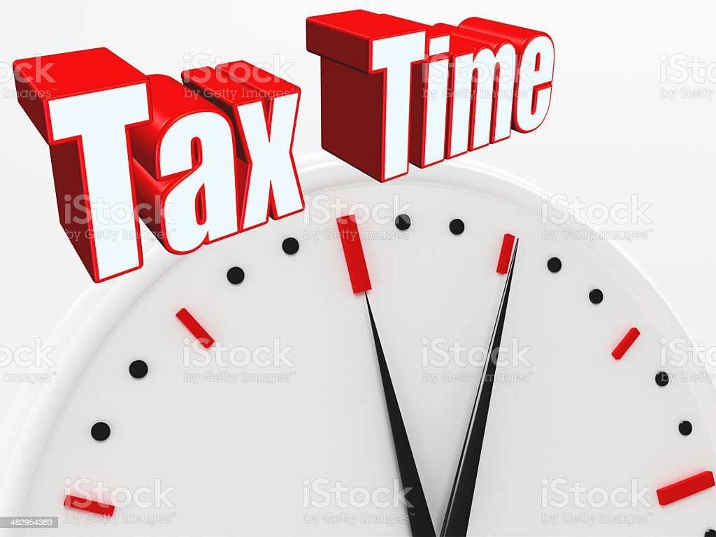 Tax Time royalty-free stock photo