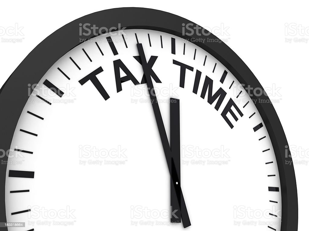 Tax Time Reminder royalty-free stock photo