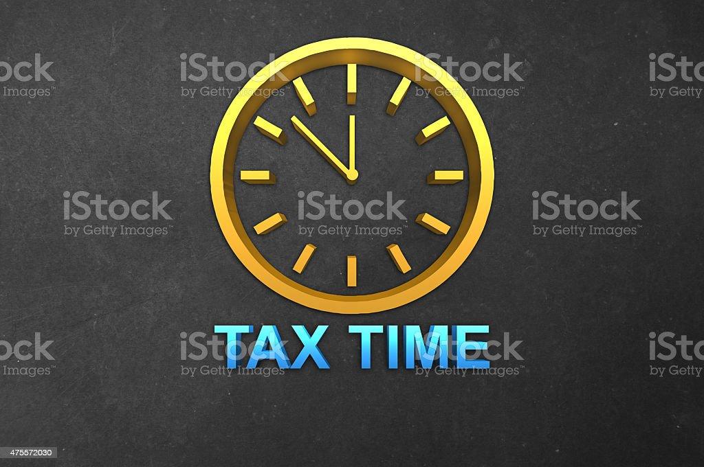 Tax Time Reminder stock photo