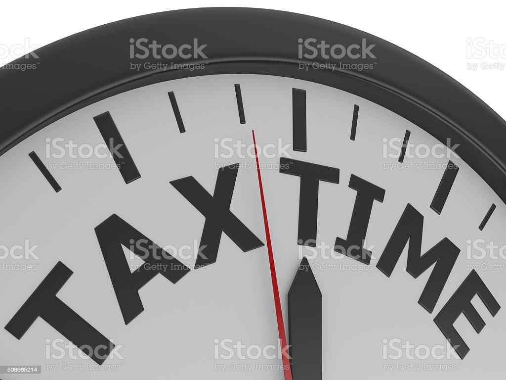 Tax Time Reminder stock photo