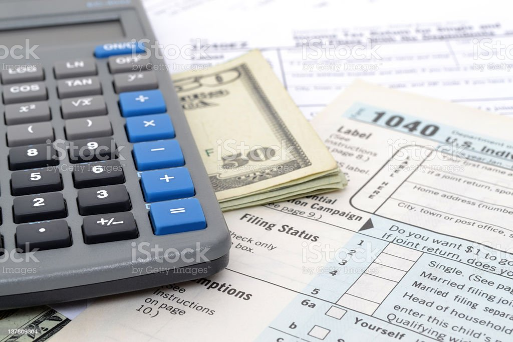 Tax Times royalty-free stock photo