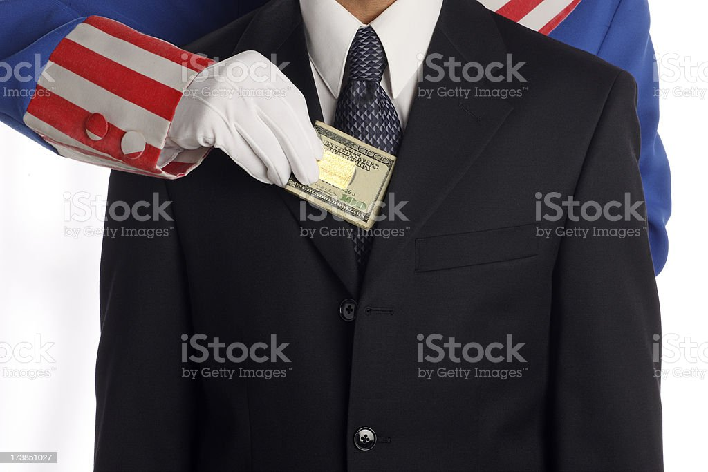 Taxation & Confiscation stock photo