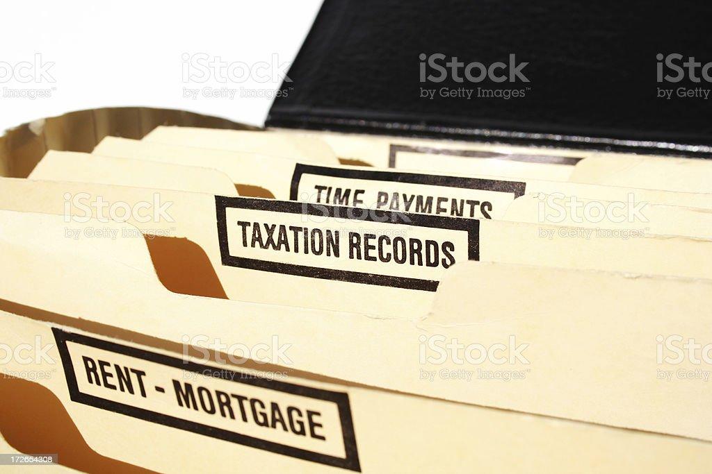 taxation records royalty-free stock photo