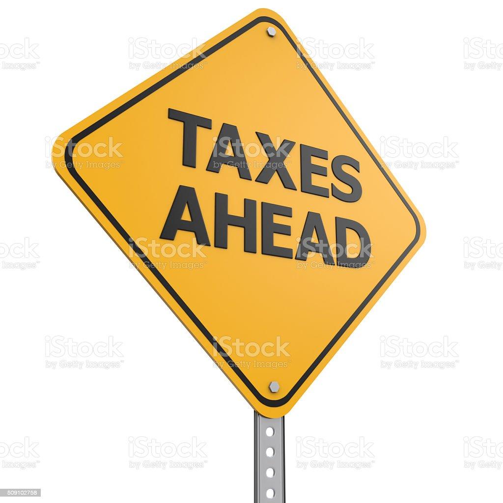 Taxes concept stock photo