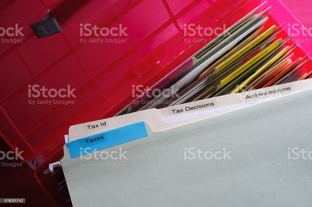 Taxes Documents stock photo