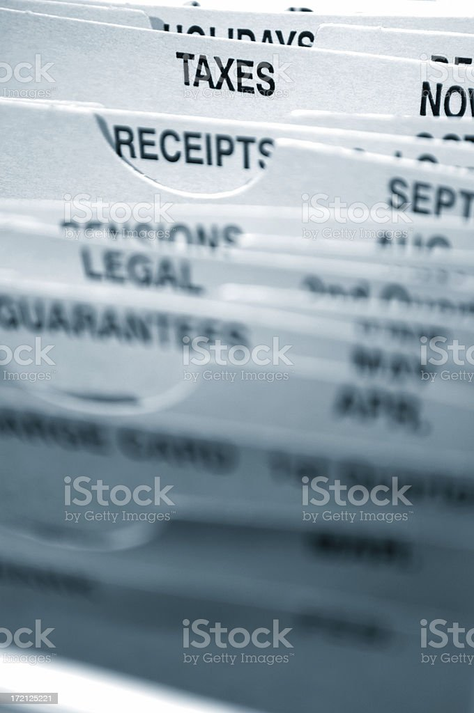 taxes file dividers royalty-free stock photo