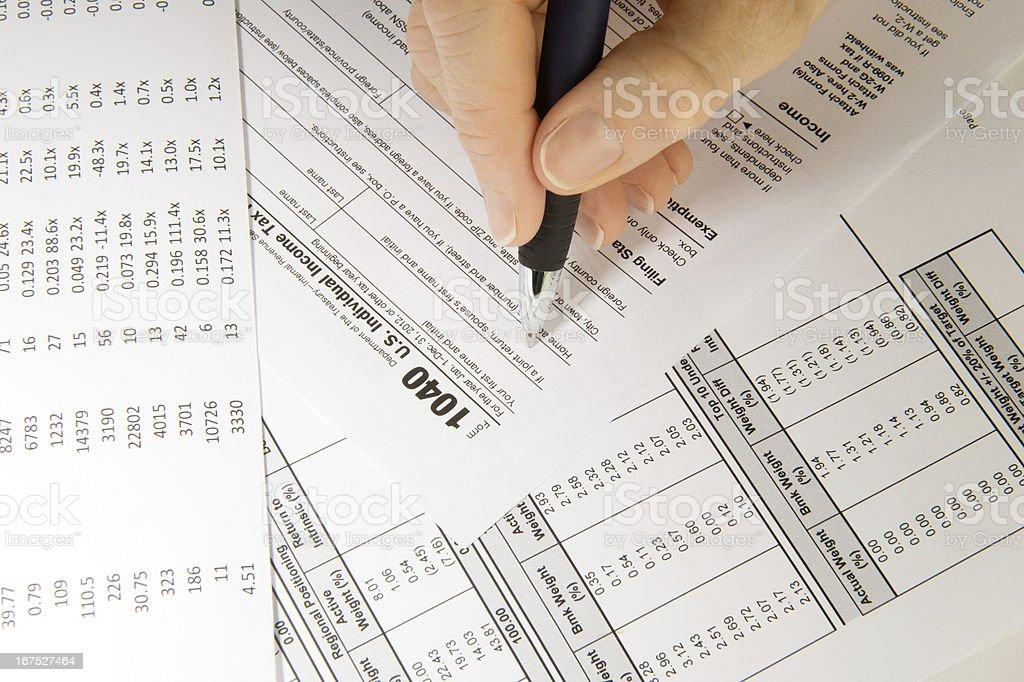Taxes! royalty-free stock photo