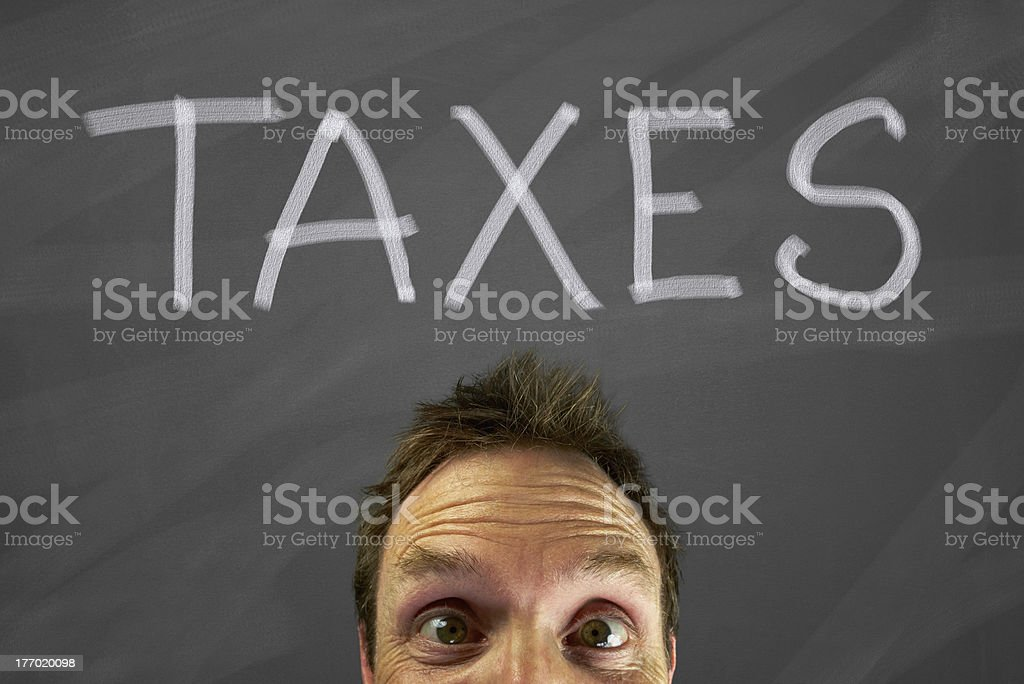 Taxes royalty-free stock photo