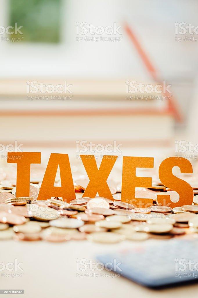 Taxes stock photo
