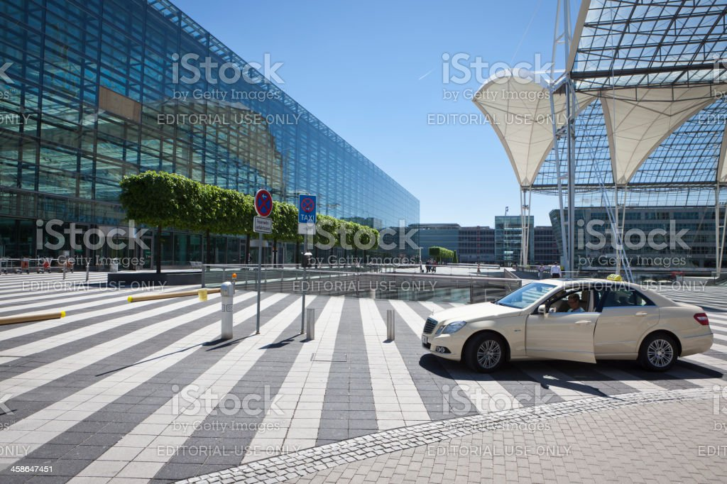 Taxi at Munich Airport stock photo