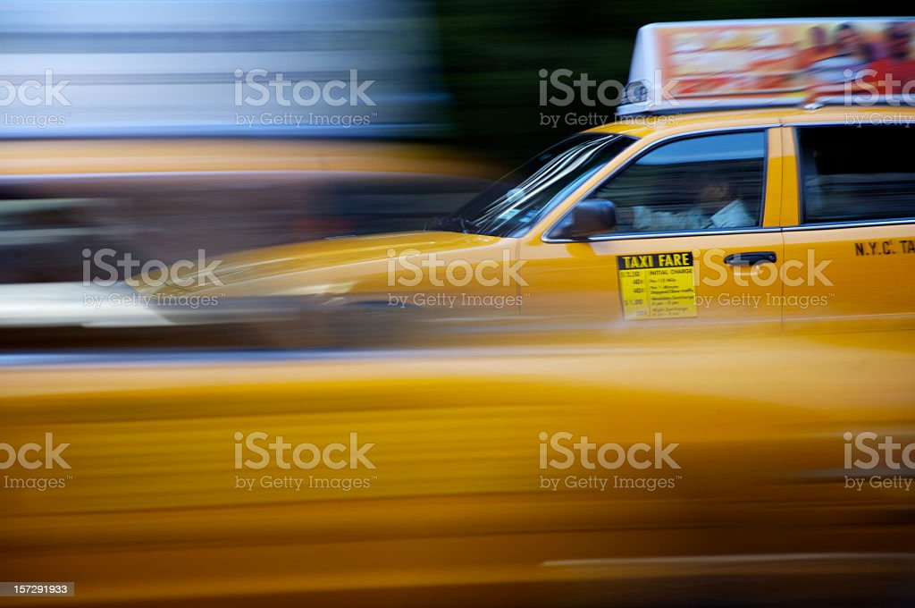 Taxi Blur royalty-free stock photo