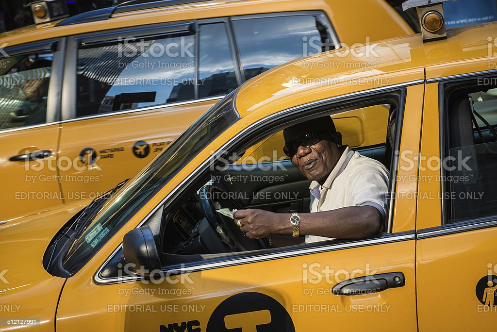 Taxi cab driver stock photo