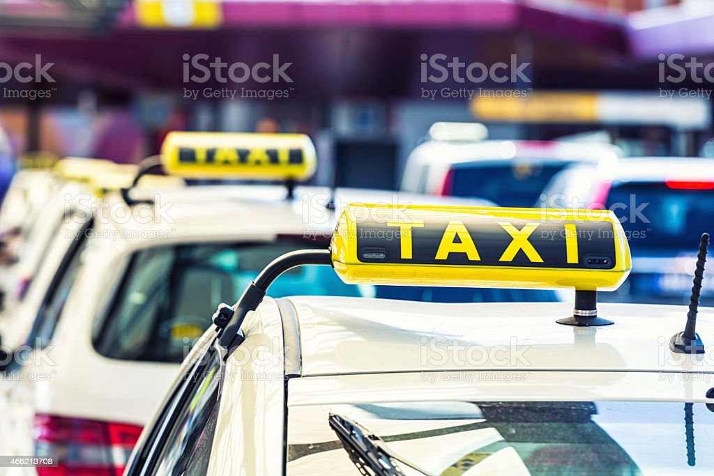 Taxi Cab in Germany stock photo