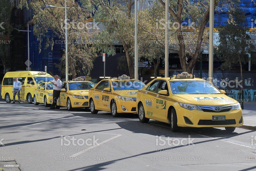 Taxi cab Melbourne Australia stock photo