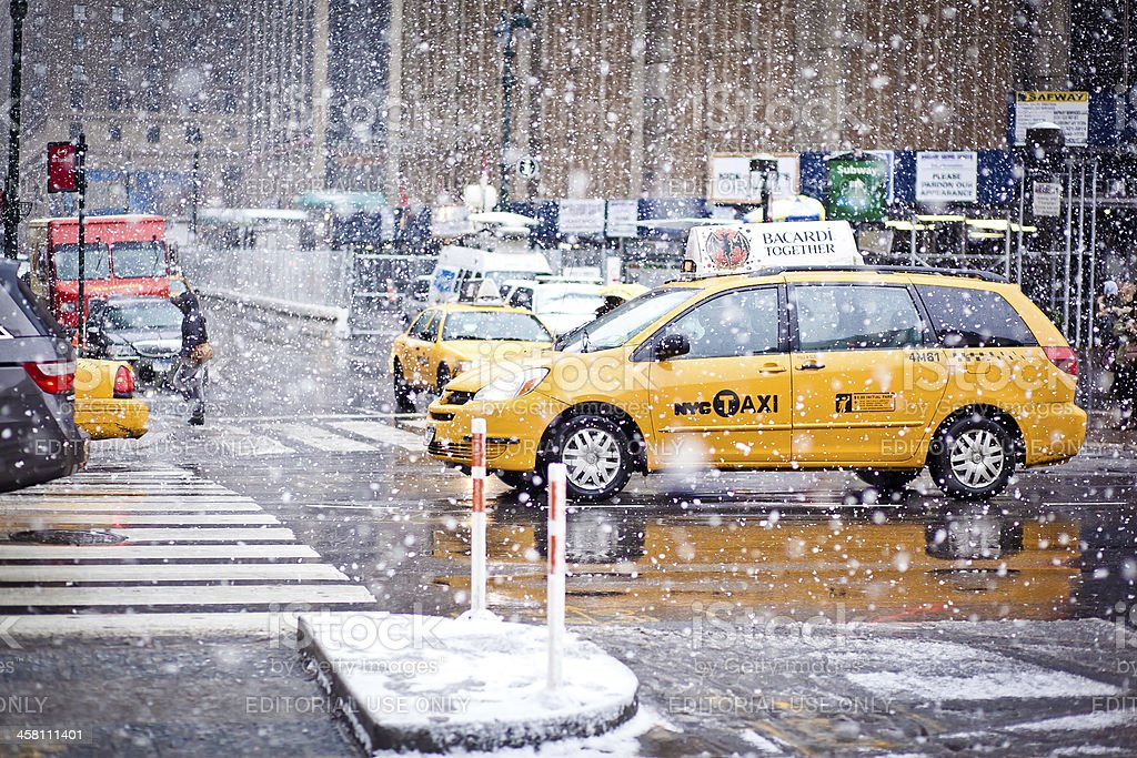 Taxi Cabs in New York royalty-free stock photo