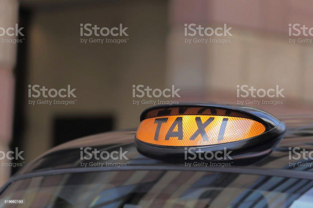 Taxi car in London stock photo