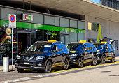 Taxi cars in Wallisellen, Switzerland