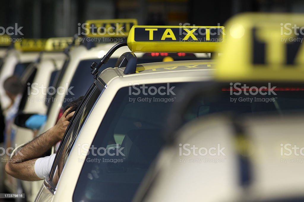 Taxi cars royalty-free stock photo