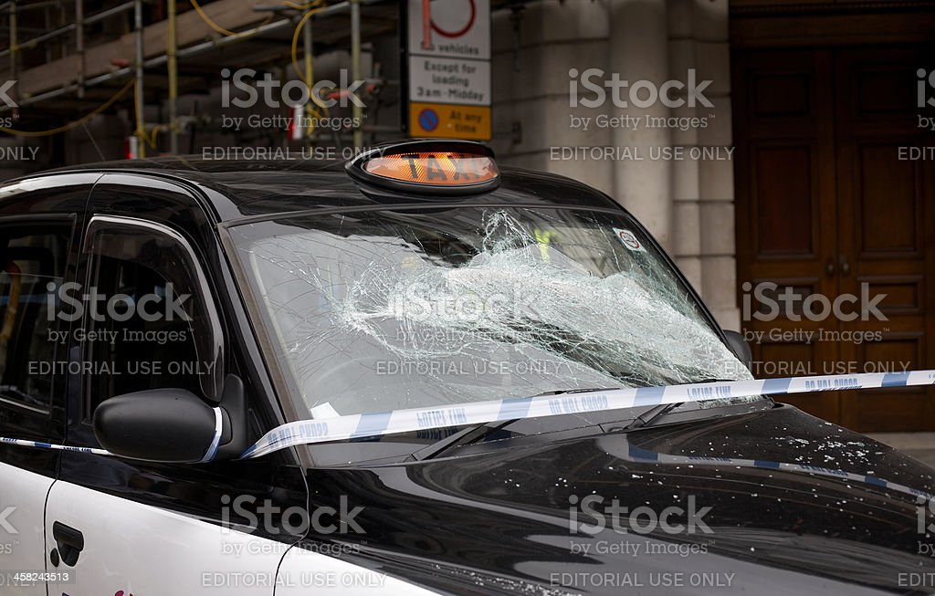 taxi crash royalty-free stock photo