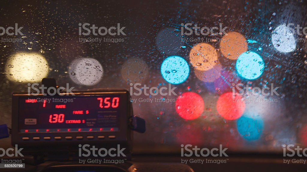 Taxi Dashboard (2) stock photo