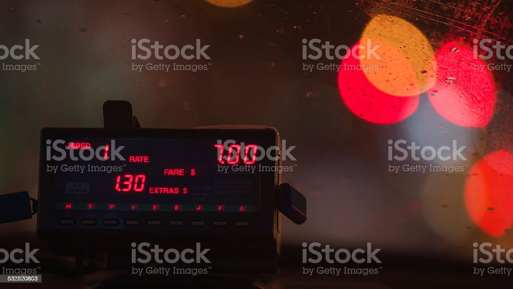 Taxi Dashboard (1) stock photo