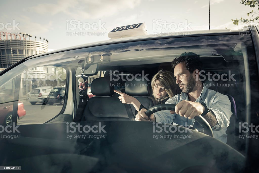 Taxi Driver stock photo