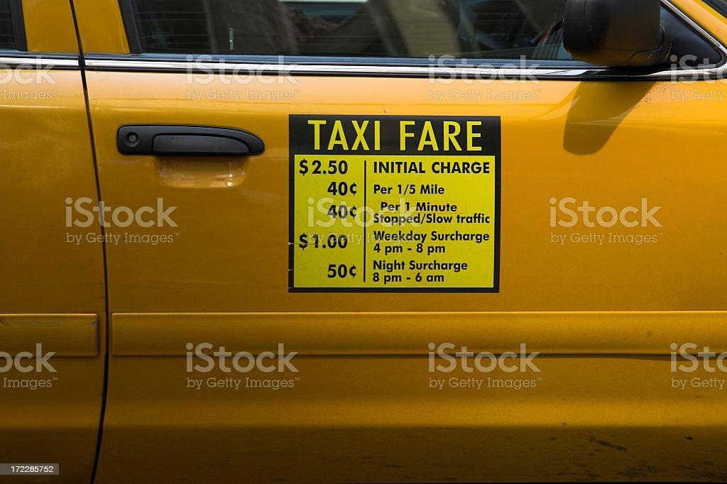 Taxi fare stock photo