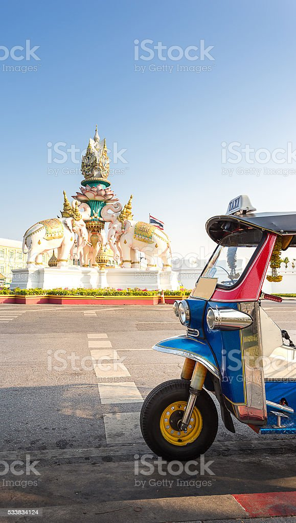 taxi in Bangkok Thailand stock photo