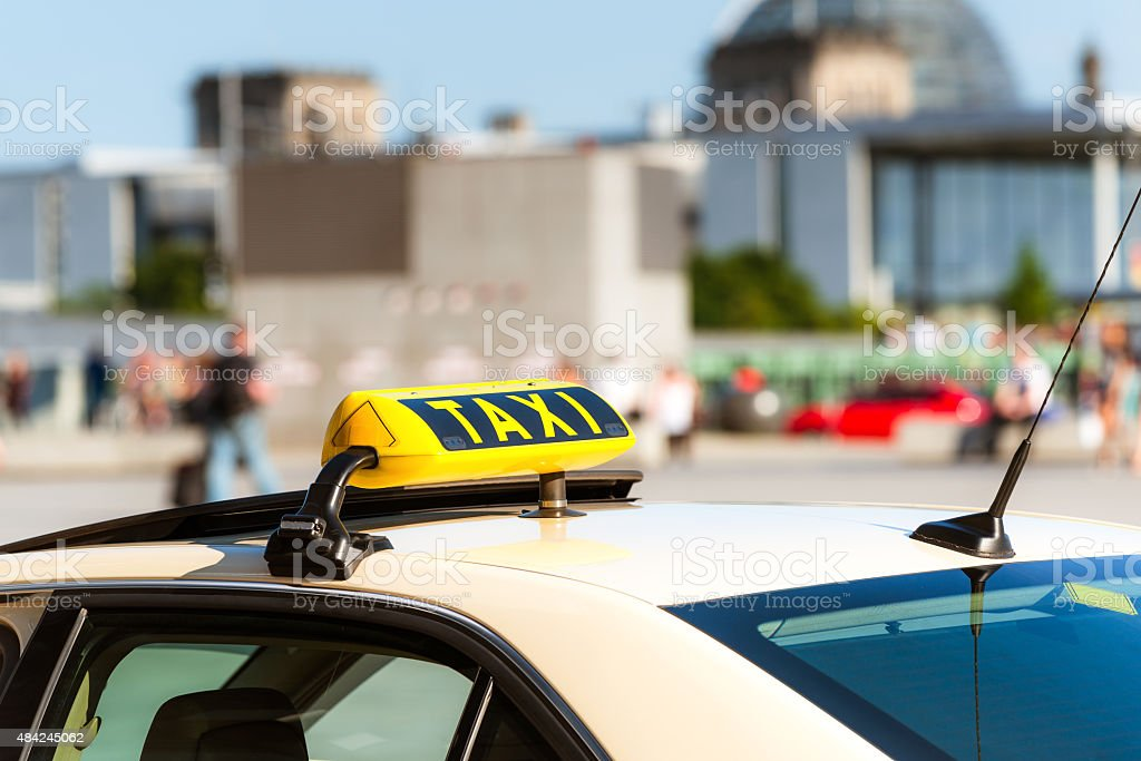 Taxi in Berlin - Germany stock photo