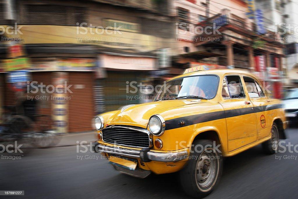 Taxi in Calcutta, India stock photo