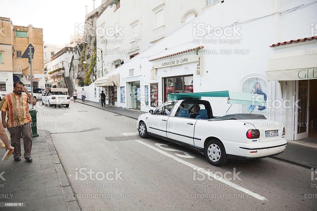 Taxi in Capri stock photo