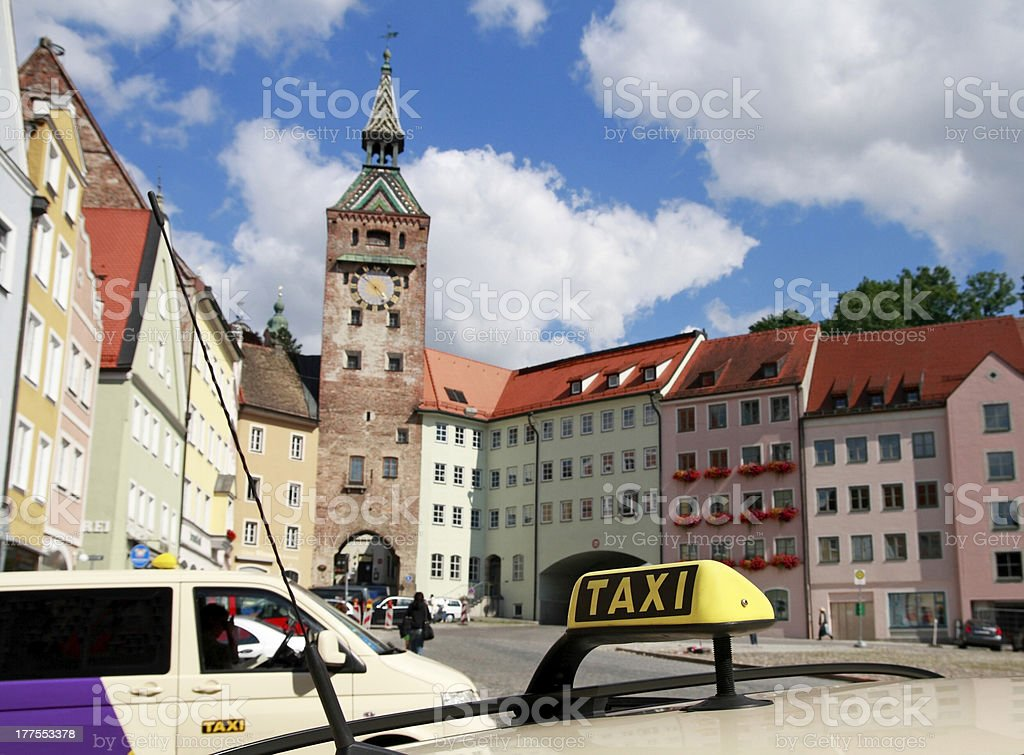 Taxi in Germany stock photo