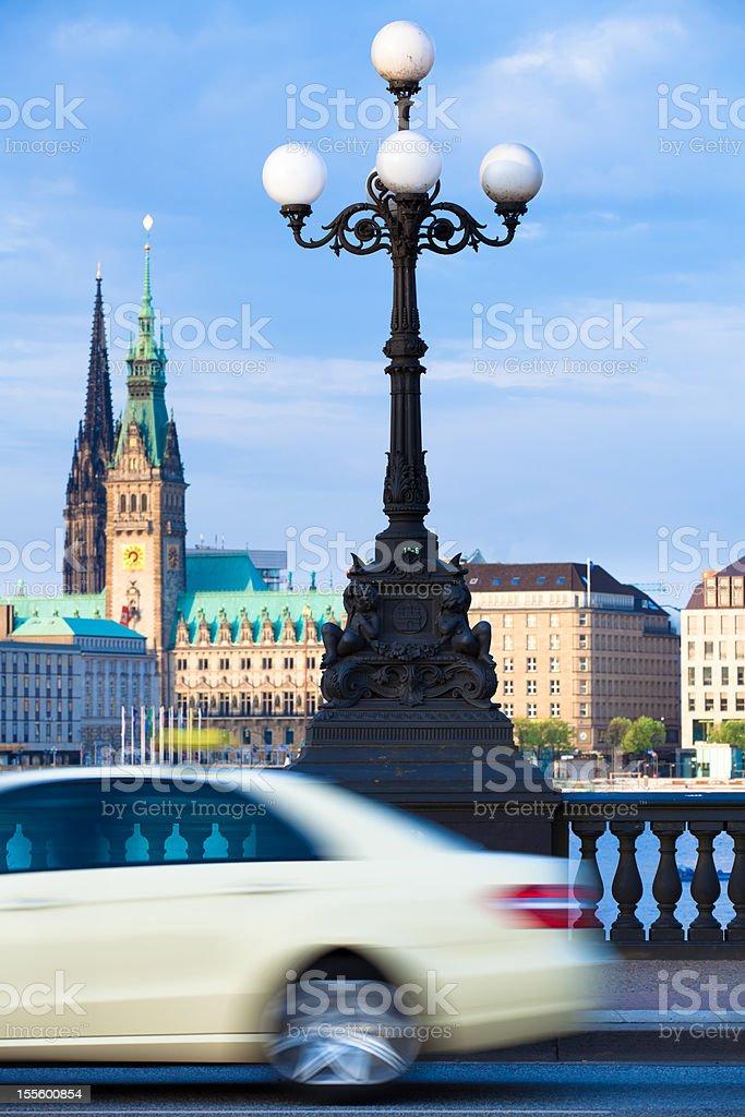 Taxi in Hamburg stock photo