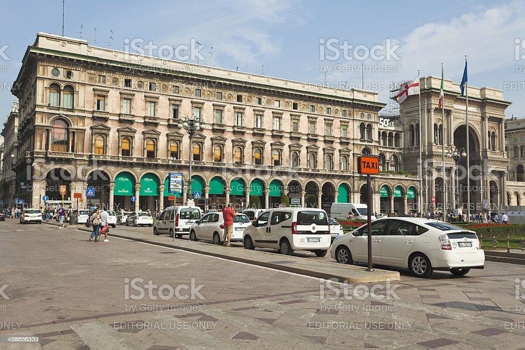 Taxi in Milan stock photo